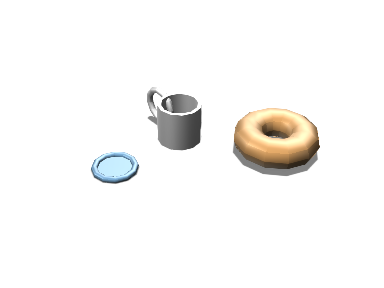 cup saucier and bagel  - 3D design by The_alien_girl._00 on Dec 12, 2017