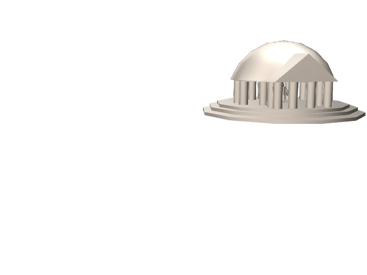 Jefferson Memorial - 3D design by roec on May 7, 2018