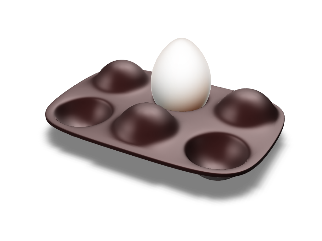 Egg Holder - 3D design by Johnnyal Aug 2, 2016