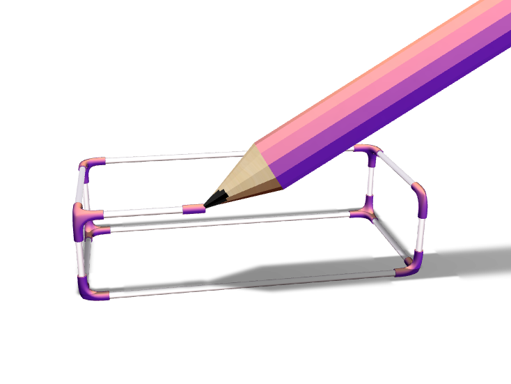 VECTARY 3D Pencil - 3D design by Lars_Varjøtie on Dec 24, 2017