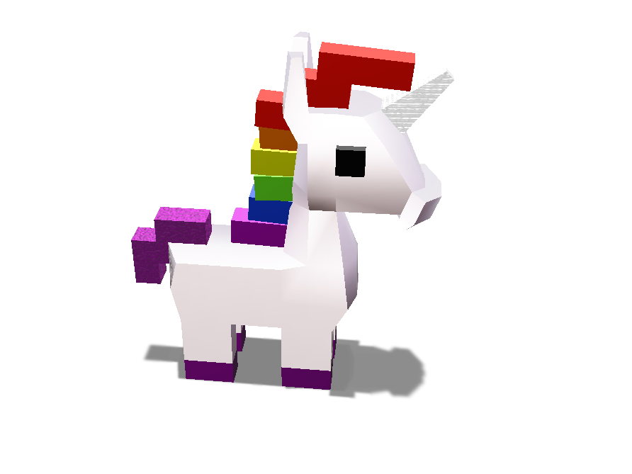 UNICORN  - 3D design by Hamza on May 21, 2018