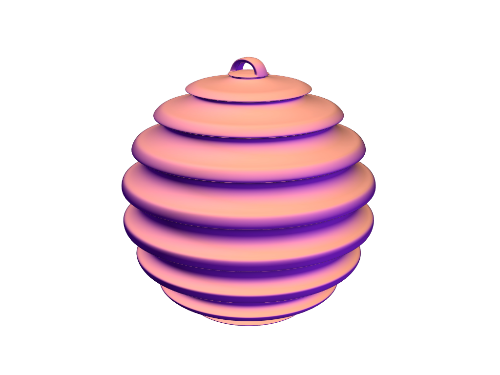 Linear bauble - 3D design by jazokalovi Dec 19, 2017