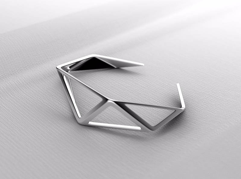 Geometry Bracelet - 3D design by VECTARY Apr 20, 2017