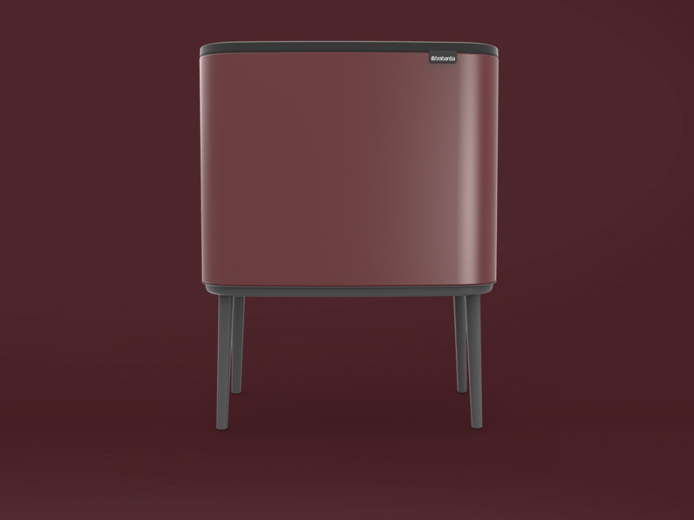 Bo Touch Bin - Minderal Windsor Red - 3D design by danny on Oct 7, 2018