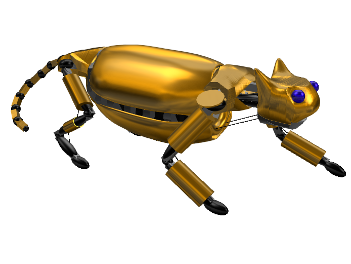 Broken Robot Cat - 3D design by Mr_John Mar 20, 2018