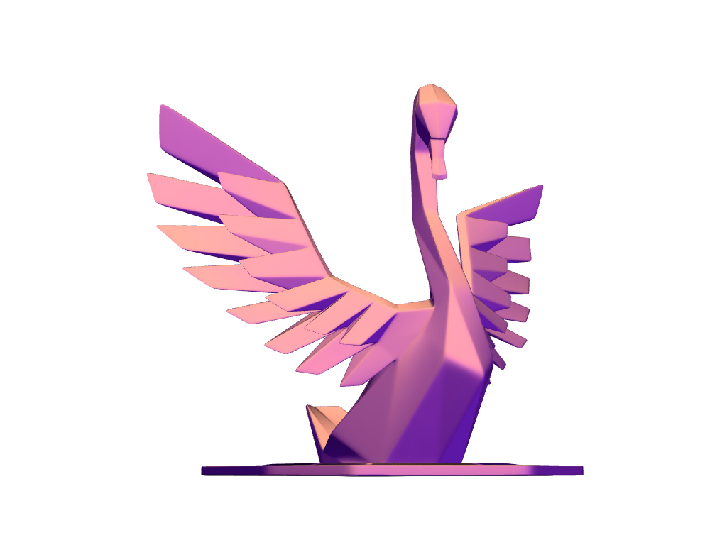 Swan - 3D design by Johnnyal Jul 31, 2017