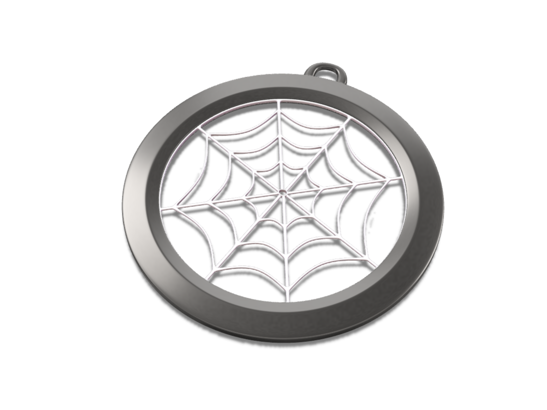 Spider web talisman - 3D design by VECTARY Oct 20, 2017