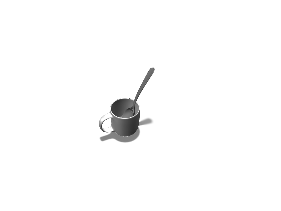 Spoon inside a mug - 3D design by asanchez292 May 14, 2018