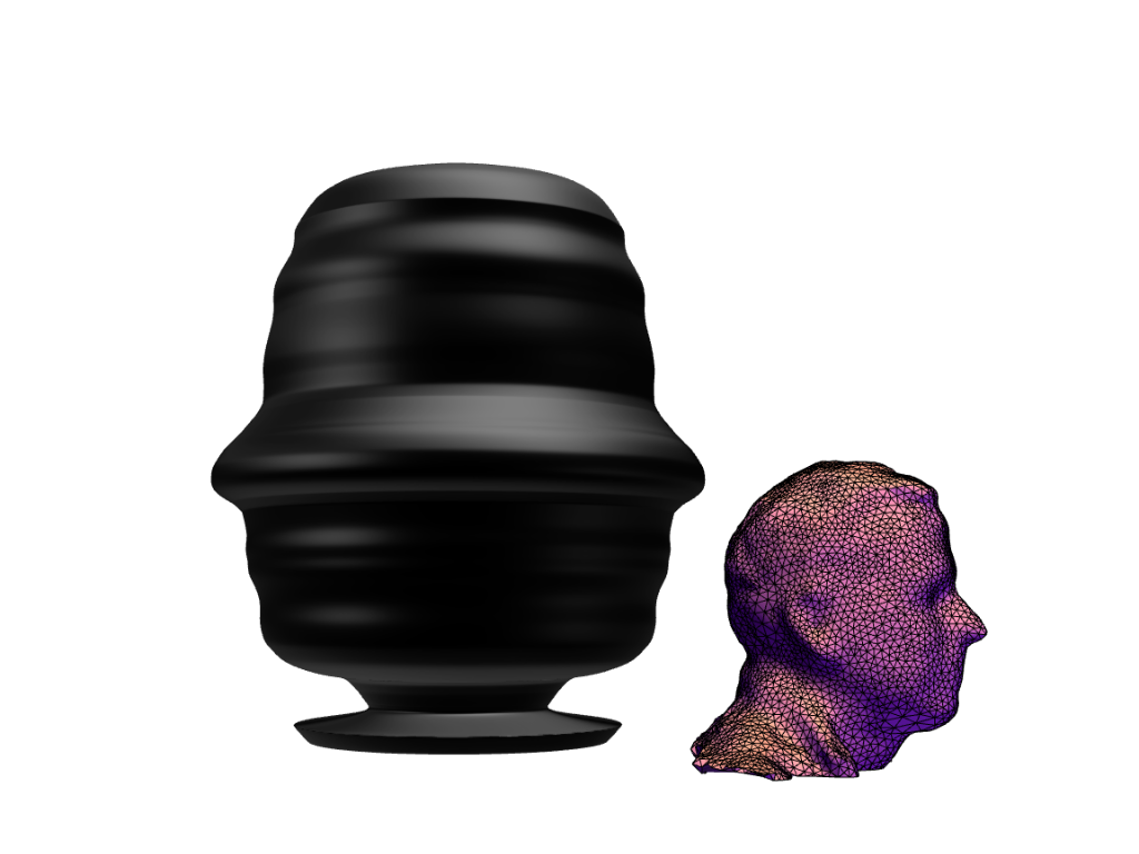 3D scan head silhouette vase - 3D design by Andy Klement Oct 6, 2017