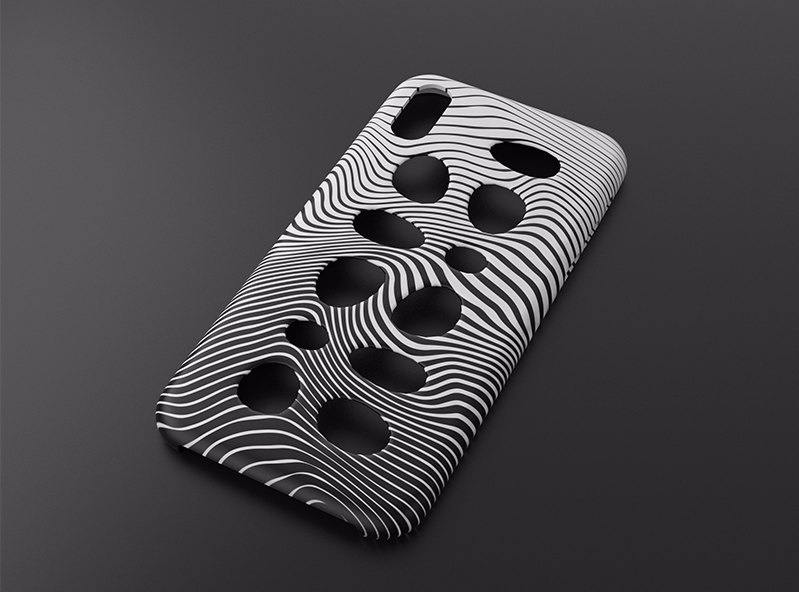 iPhone X case with holes - 3D design by VECTARY Nov 3, 2017