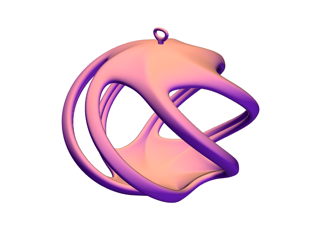 Twirly Elegant Bauble  - 3D design by VECTARY Dec 12, 2017