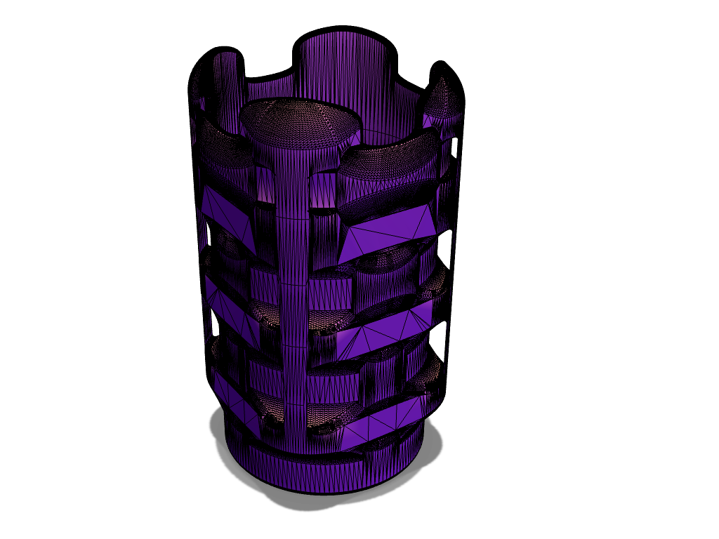 Cubed round vase - 3D design by Zoltan Toth (xTremePower) on Sep 3, 2017
