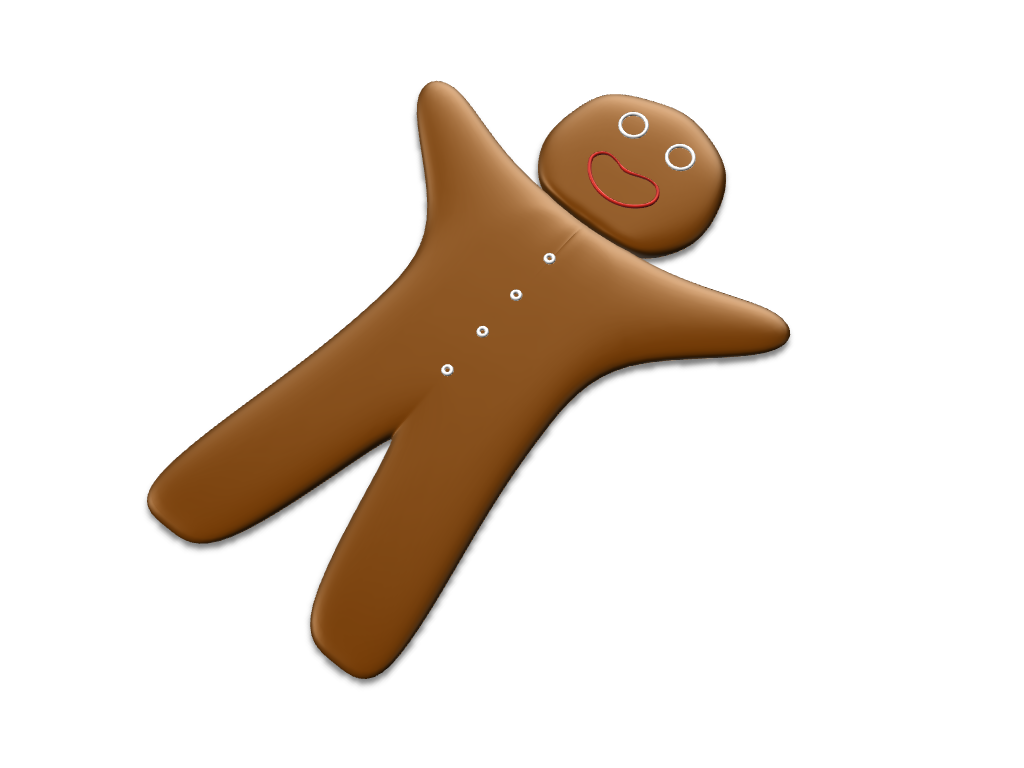 Gingerbread - 3D design by Kristian Dec 15, 2016