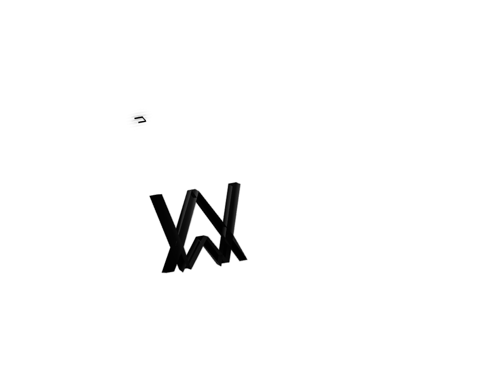 Alan Walker Logo :> - 3D design by Idk anymore Sep 26, 2017
