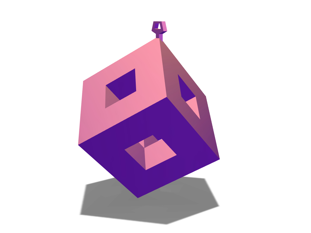 Cubic bauble - 3D design by govu Dec 19, 2017