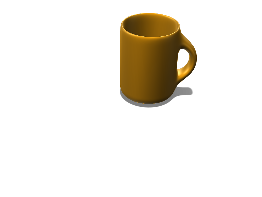 gold mug - 3D design by benla004.315 on Mar 15, 2018