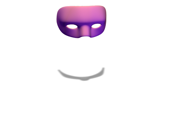 Halloween Mask Template - 3D design by Sandrine Costagliola Mar 23, 2018