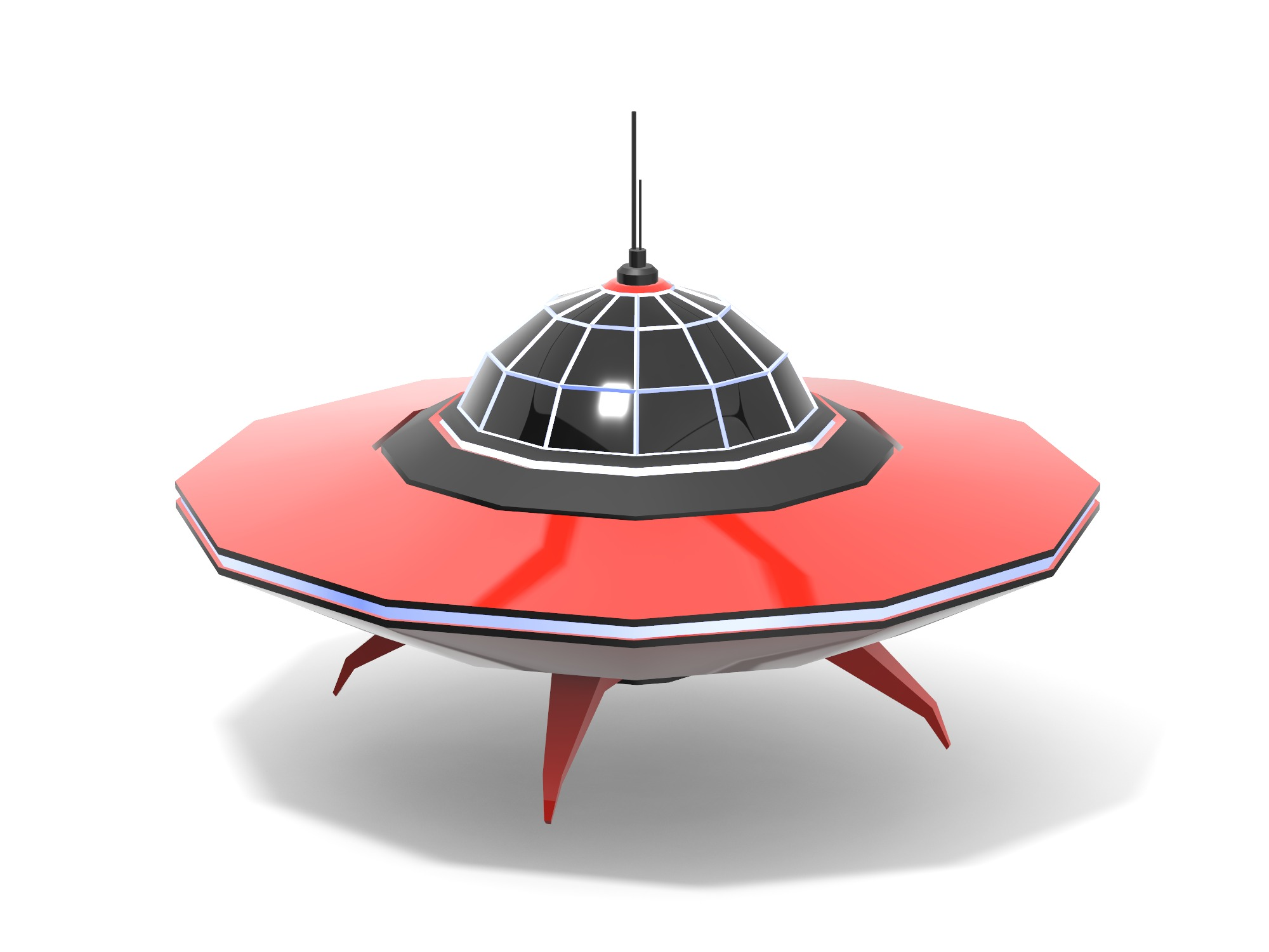 Flying Saucer - 3D design by Vectary assets Jun 3, 2019