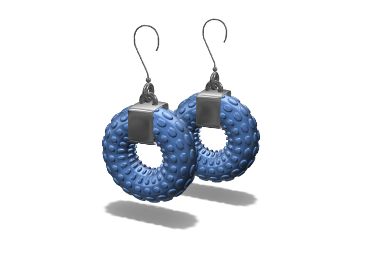 Organic torus earrings - 3D design by Genny Pierini on Mar 1, 2018