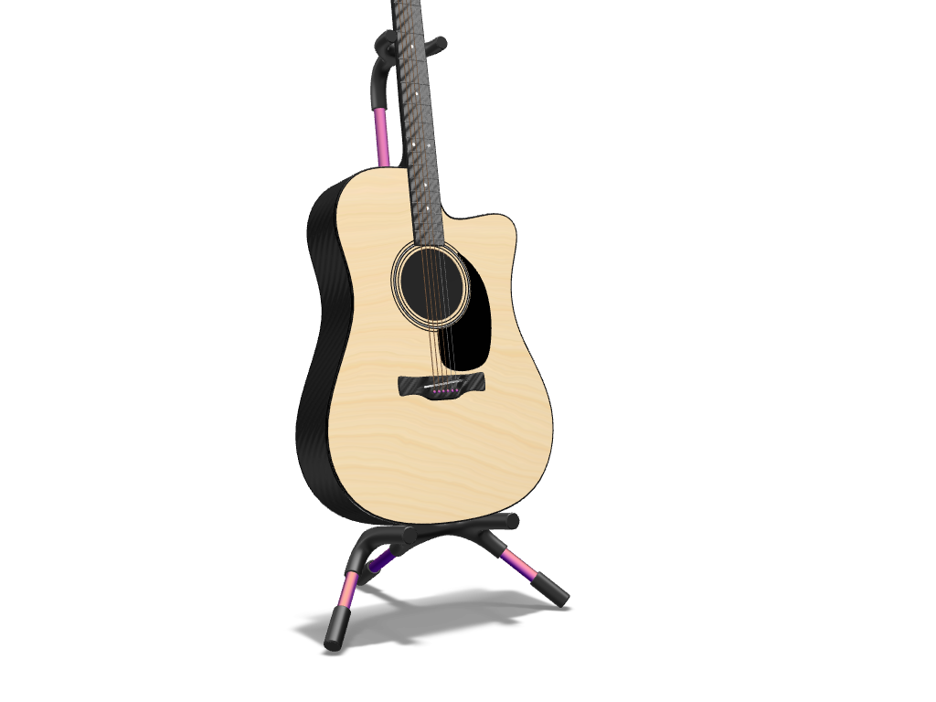 Acoustic Guitar - 3D design by meshtush Feb 13, 2017
