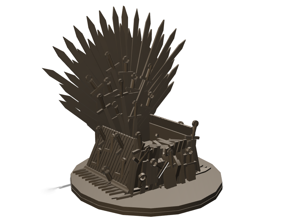 Mobile's Iron throne updated - 3D design by saurabh shirolkar on Sep 4, 2017