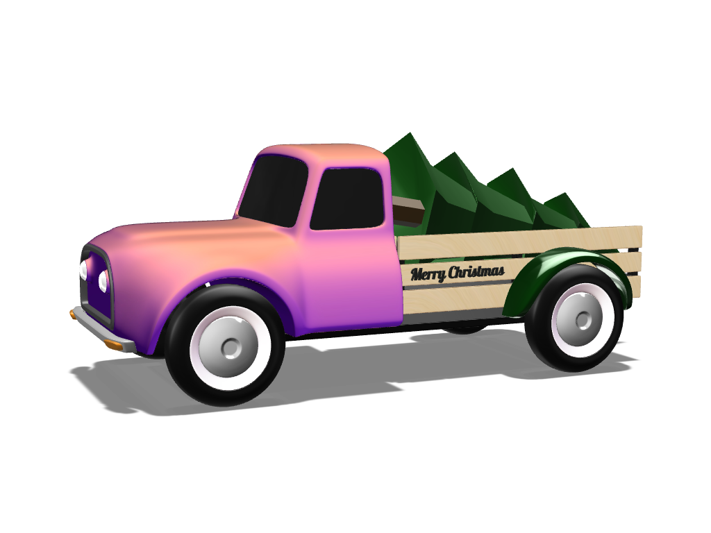 Christmas truck - 3D design by VECTARY Jan 4, 2018