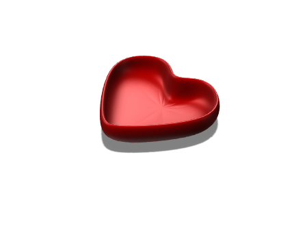 Heart Bowl 1 - 3D design by mariaannt757 Jan 9, 2018