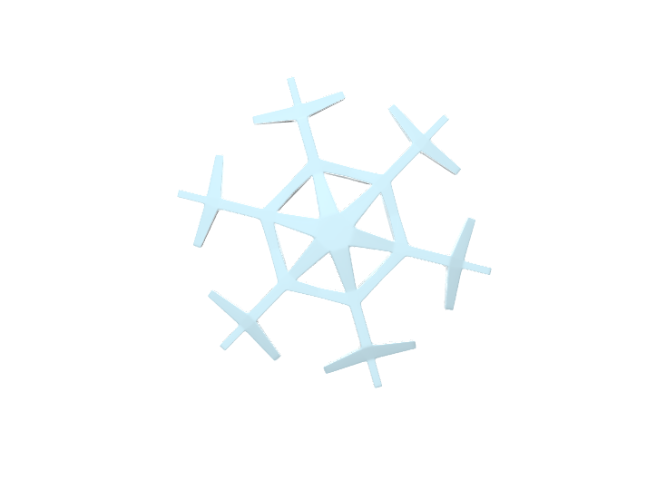 Snowflake_Vectary - 3D design by Genny Pierini Dec 2, 2017