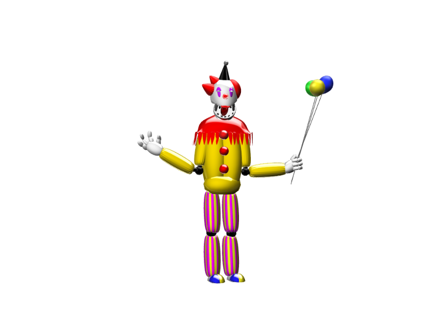 Castor the animitronic clown - 3D design by sebastiandollybbb Oct 3, 2017