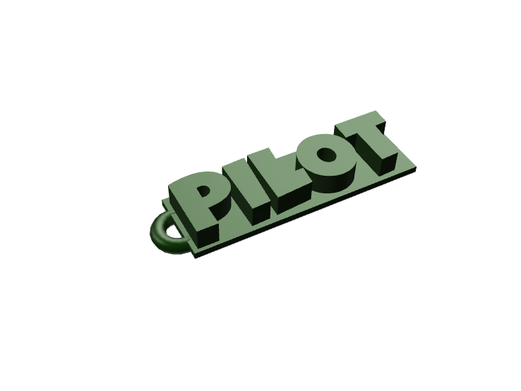 pilot keychain - 3D design by Rgames12 Oct 12, 2017