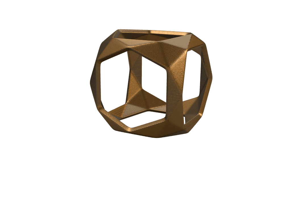 Low Poly Square Ring - 3D design by hunterforero on Nov 24, 2017