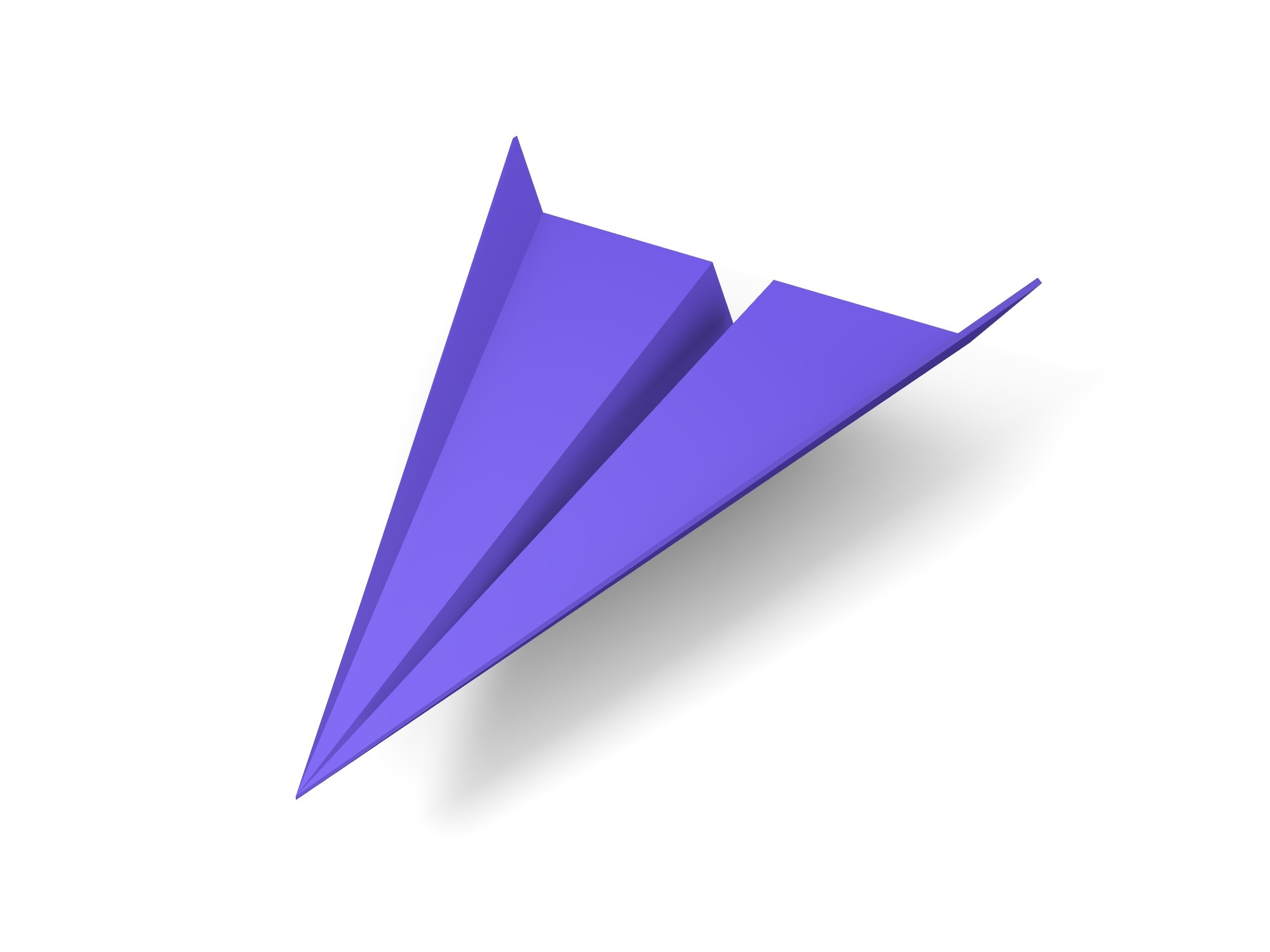 Paper plane with unfolded wings - 3D design by Vectary assets Aug 20, 2018
