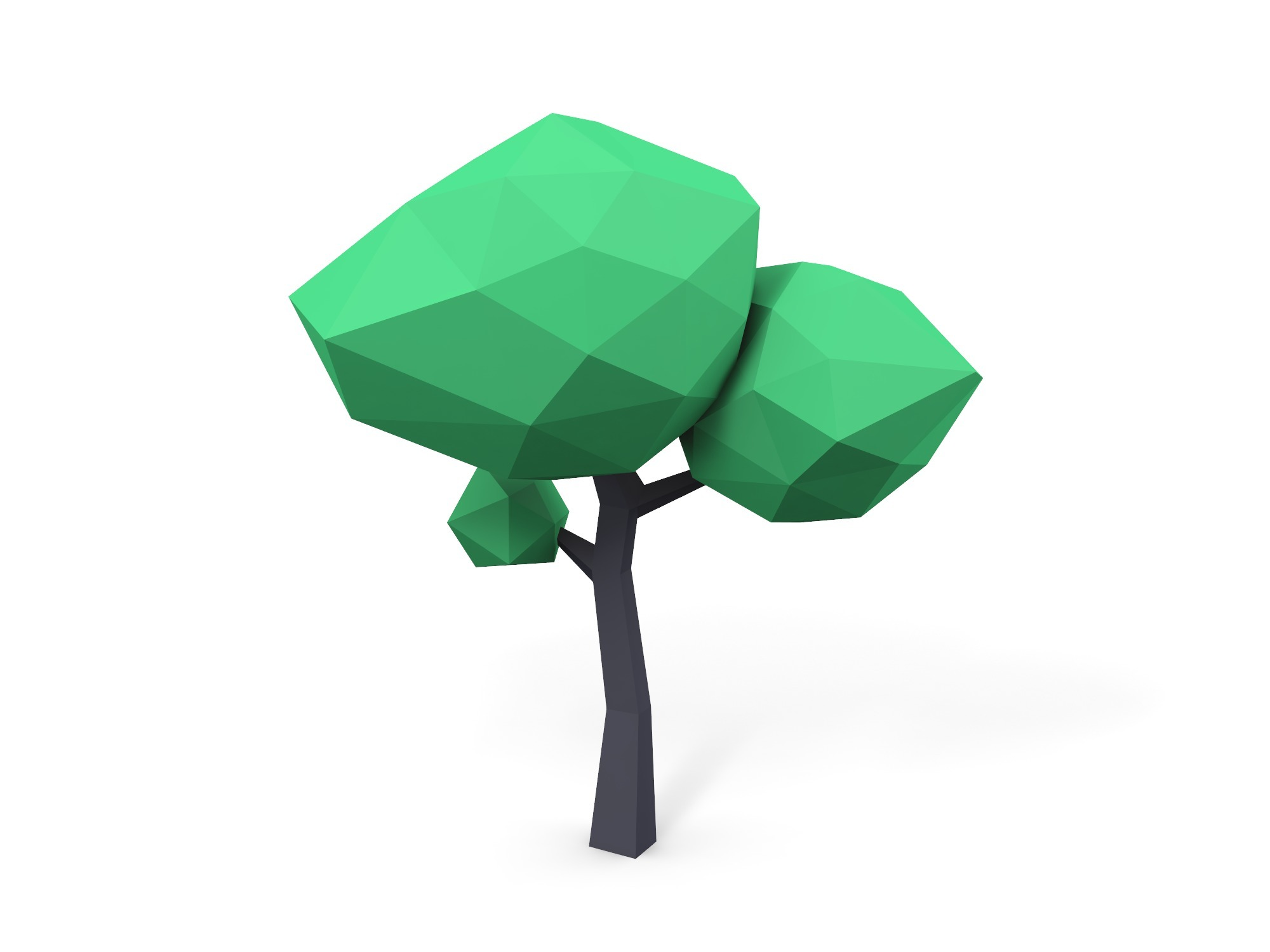 Ash tree low poly - 3D design by Vectary assets Aug 14, 2018