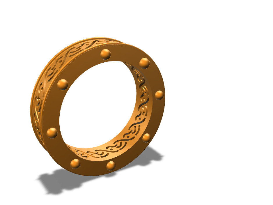 Celtic Ring size 10US  - 3D design by N3Dproto on Sep 6, 2017
