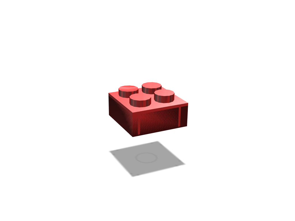 Lego Piece  - 3D design by rhhughes May 4, 2018