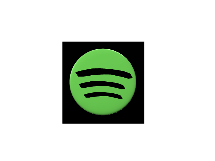 Spotify logo - 3D design by Dylan Manion Oct 11, 2017