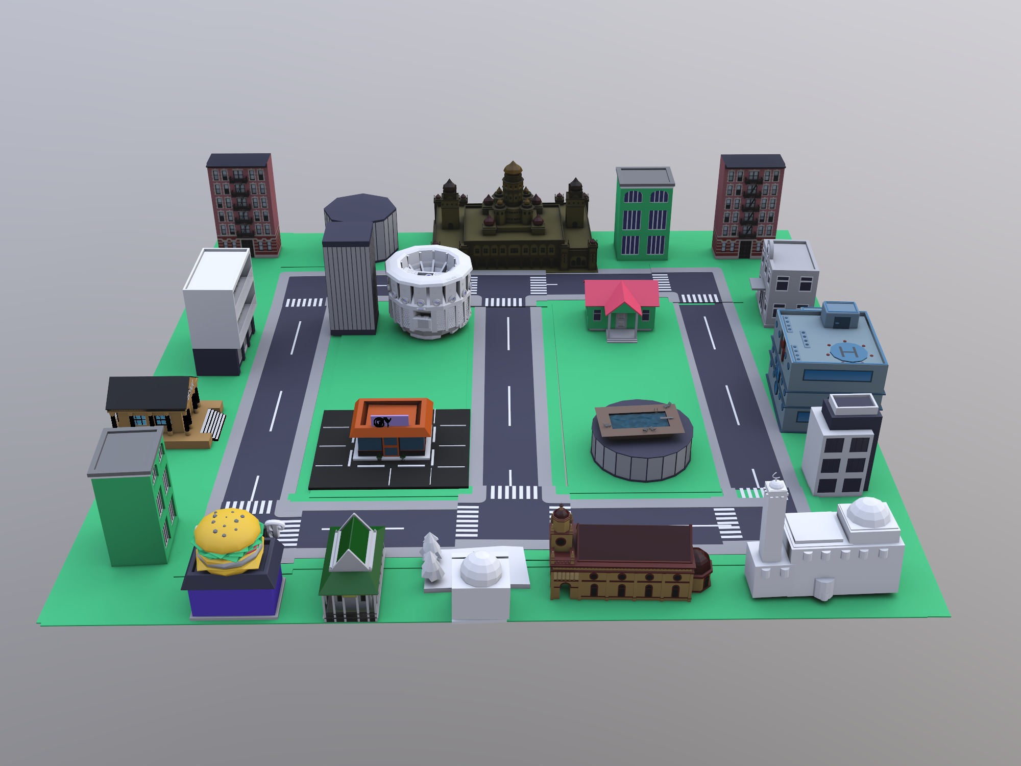 campus (copy) - 3D design by aa434401 on Dec 16, 2018