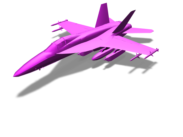 Fighter - 3D design by Sprajtak Hraje on Mar 20, 2018