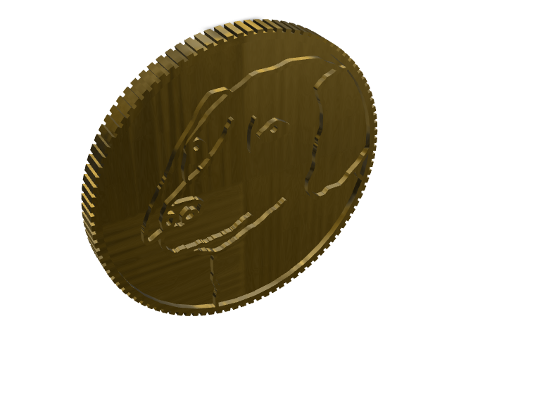 Dogecore coin - 3D design by slothsareawsome Mar 22, 2018