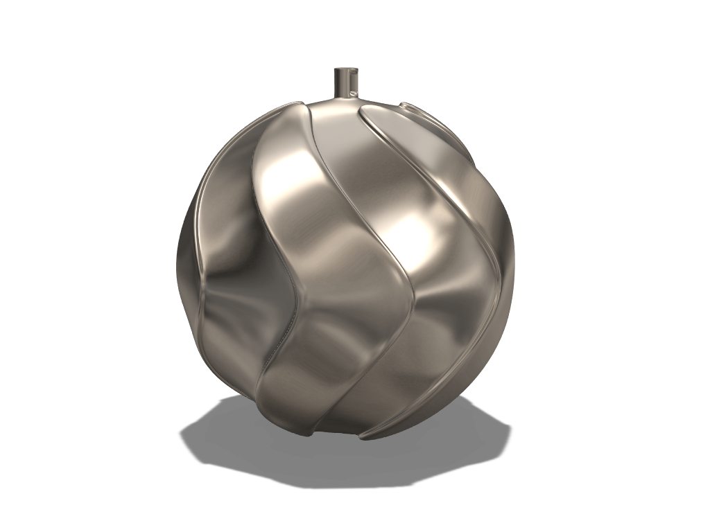 Twirly bauble 2 - 3D design by liwolisu Dec 20, 2017