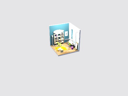 Isometric student's room  - 3D design by Vectary templates Jul 19, 2019