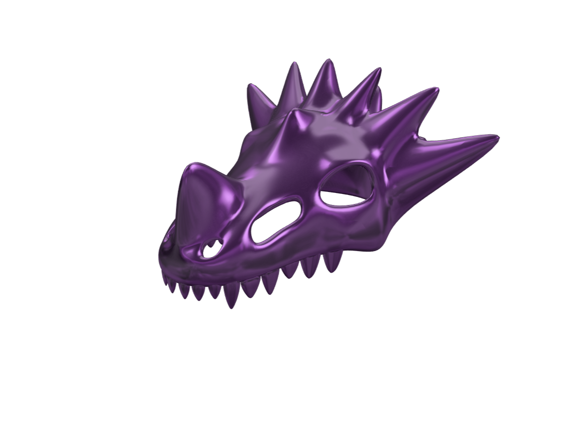Dragon Skull - 3D design by lewmanuel on May 8, 2018