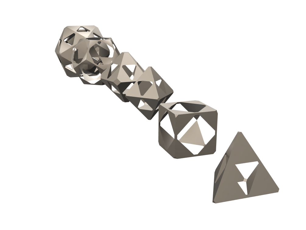 void dice set - 3D design by Alejandro Diaz on May 9, 2018