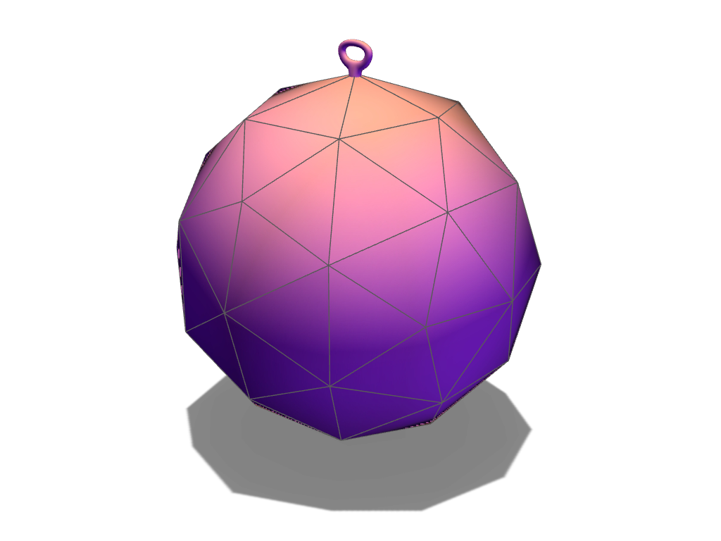 Voronoi Xmas Bauble template - 3D design by VECTARY Nov 14, 2017