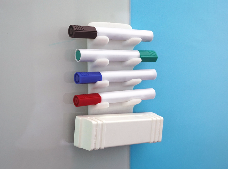 Whiteboard marker holder - 3D design by Adrian Aug 4, 2017