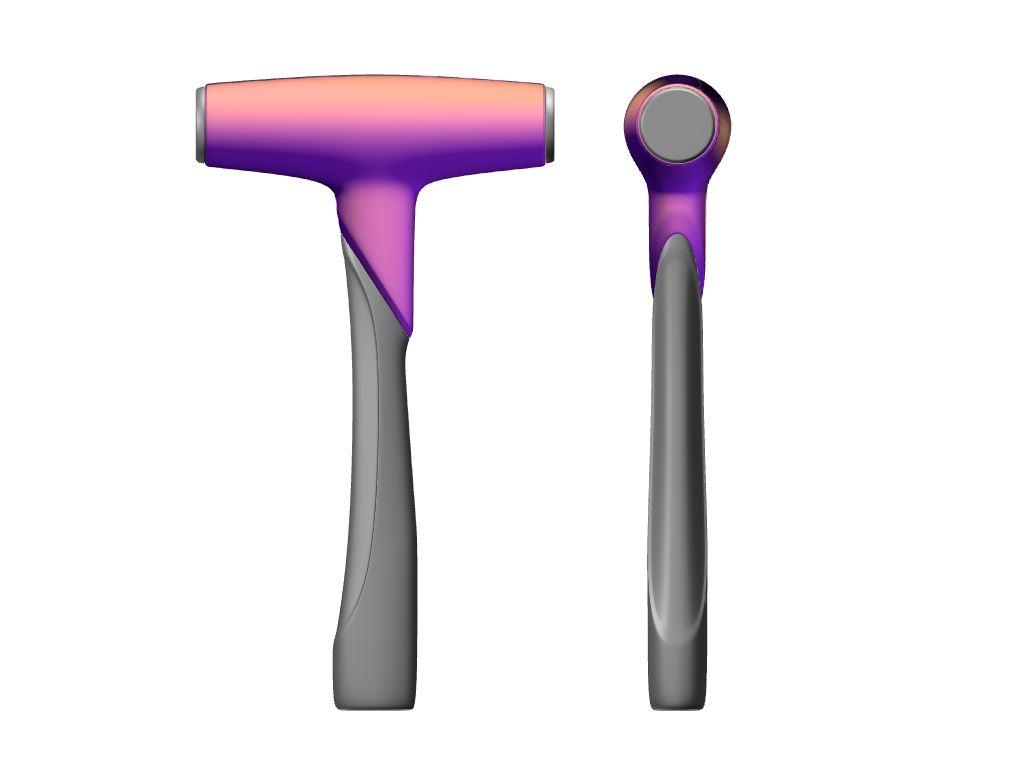 PLASTIC HAMMER - 3D design by Johnnyal on Sep 4, 2017
