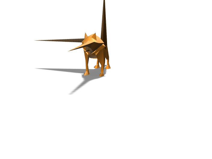 Low poly wolf - 3D design by noel.henry.2023 on Dec 12, 2017