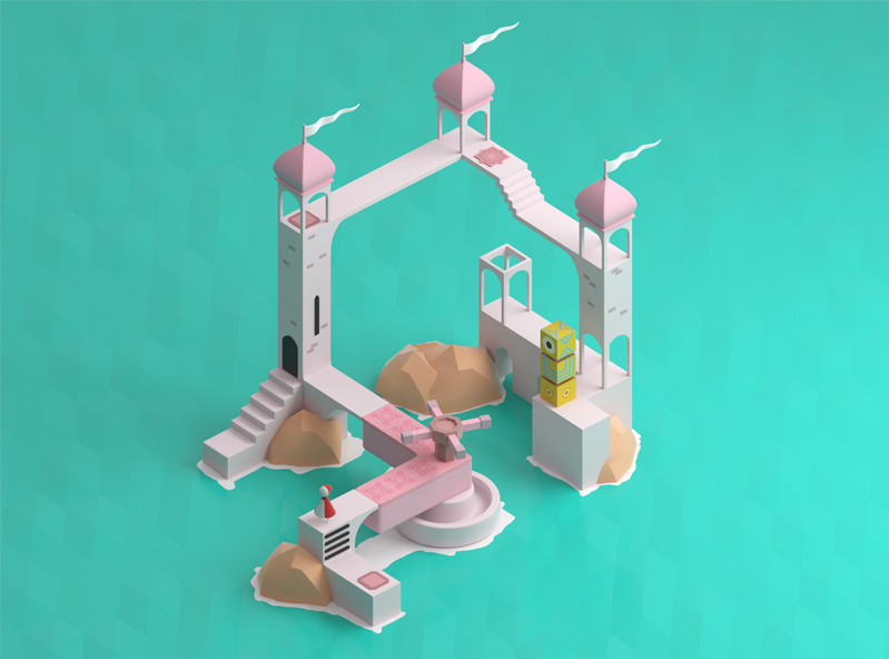 Monument valley fanart - 3D design by VECTARY Jan 22, 2018