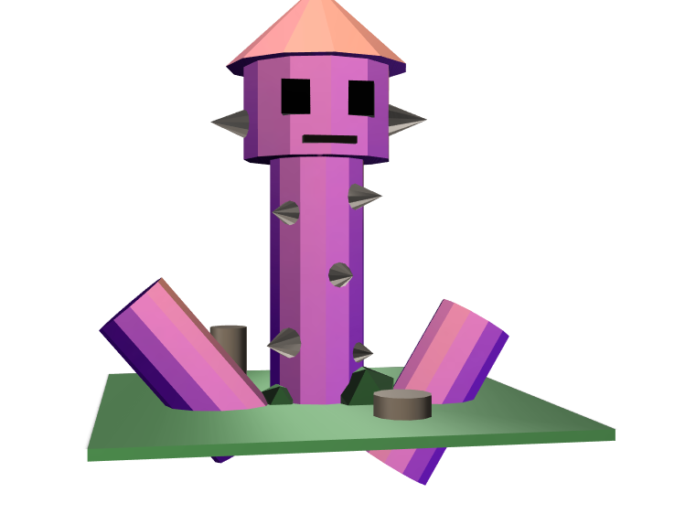 Spiked Tower - 3D design by crumblypetal Mar 9, 2018