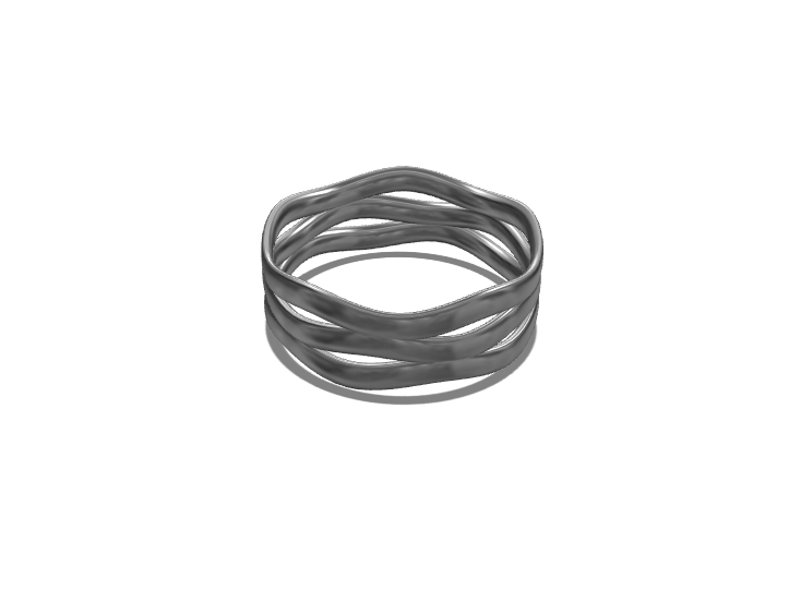 Organic Ring - 3D design by Genny Pierini on Sep 15, 2017